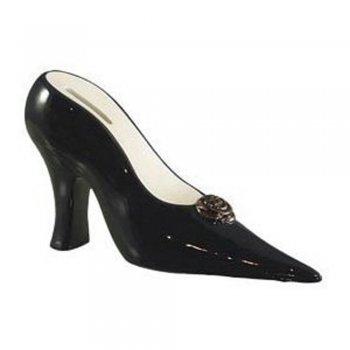 Black High Heeled Shoe Ceramic Money Box