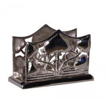 Art Deco Style Nickel Finish Business Card Holder
