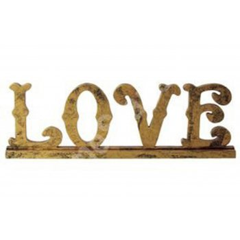 Freestanding Gold word LOVE Freestanding Sign