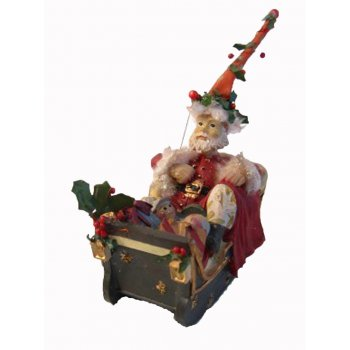 Gisela Graham Santa in a Sleigh full of Toys Christmas Tree Decoration