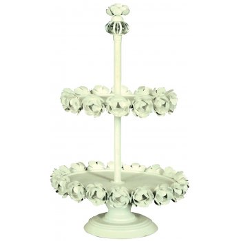 2 Tier Ring of Roses Cupcake Display / Afternoon Tea Stand