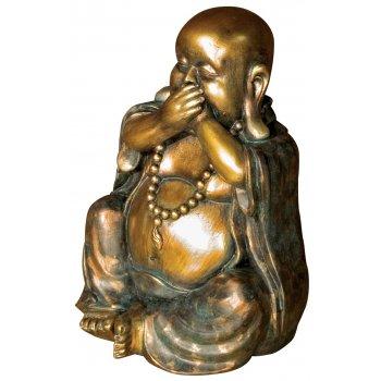 Bronze & Gold Laughing Buddha Ornament