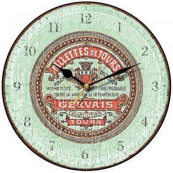 Smith & Taylor Clocks shabby Chic Rillettes de Tours Round Kitchen Wall Clock