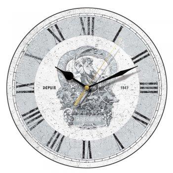 Smith & Taylor Clocks Shabby Chic Cognac Vieux Vintage Round Wall Clock