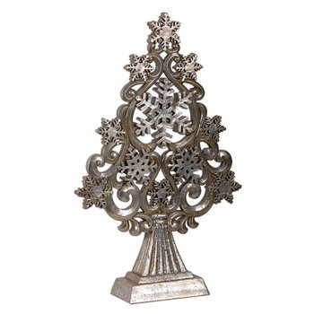 Silver Stars & Snowflakes Christmas Tree Ornament