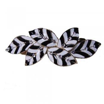 Rosie Fox Zebra Leaf Enamel & Diamante Hair Barrette