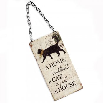 Heaven Sends A Home without a Cat is just a House Hanging Sign