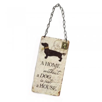 Heaven Sends A Home without a Dog is just a House Hanging Sign