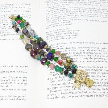 Rosie Fox Triple Strand Vintage Rainbow Stones Bracelet