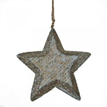 Heaven Sends Calligraphy Script Glittered Hanging Star Decoration