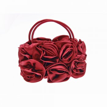 Junction Eighteen Red Roses Satin Evening Bag