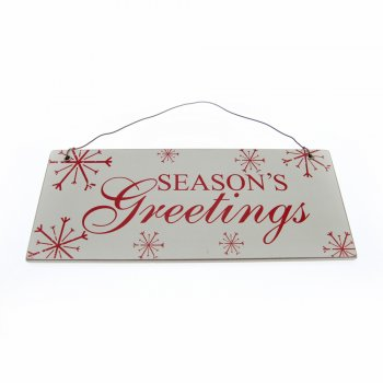 Seasons Greetings Small Hanging Sign Christmas Decoration