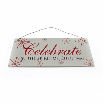 Celebrate in the Spirit of Christmas Small Hanging Sign