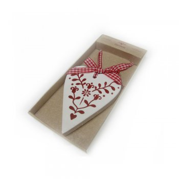 Heaven Sends Shabby Chic Hanging Heart with Scandanavian Design