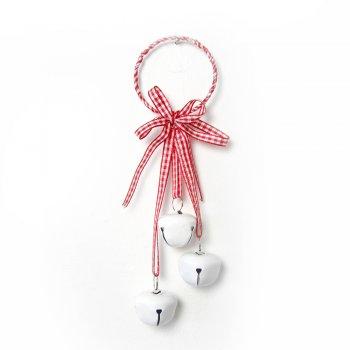 Heaven Sends Gingham Ribbons & Bells Ring Hanger