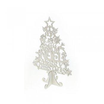 Heaven Sends 42cm White Glitter Word Standing Christmas Tree Ornament