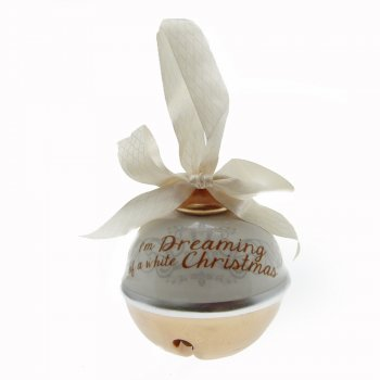 Heaven Sends I'm Dreaming of a White Christmas Ceramic Bell Christmas Decoration