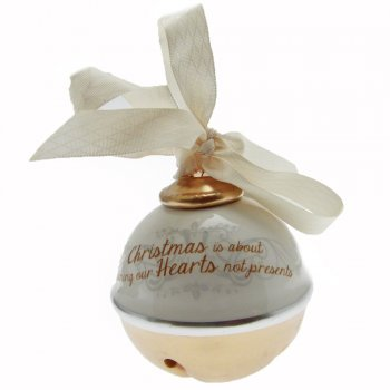 Heaven Sends Christmas Is About Opening Our Hearts Not Presents Ceramic Bell Christmas Decoration