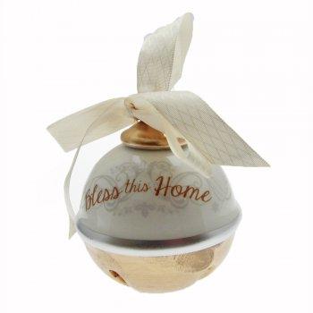 Heaven Sends Bless This Home Ceramic Bell Christmas Decoration