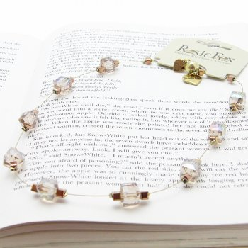 Rosie Fox Single Strand Vintage Peach Cube Necklace