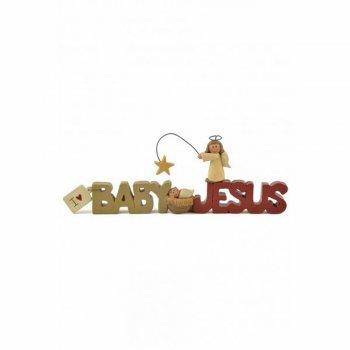 Heaven Sends Cute Christmas I Love Baby Jesus Shelf Plaque