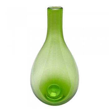 Gisela Graham Spring Green Tall Bulbous Style Glass Vase