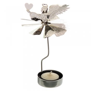 Spinning Angel Holding a Heart Tealight Holder