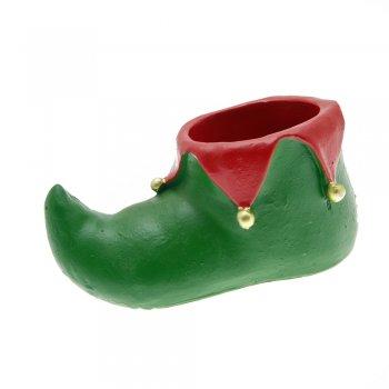 Green & Red Elf / Jester Shoe Christmas Wine Bottle Holder
