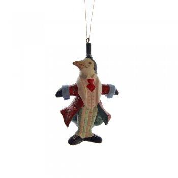 Gisela Graham Fantasy Circus Ringmaster Penguin Christmas Tree Decoration
