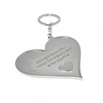 """Love The Links """"Always Remember Never Let Anyone Dull Your Sparkle"""" Metal Heart Keyring"""