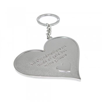 "Love The Links ""All Grandmothers Are Made Of Gold But Mine Glitters"" Metal Heart Keyring"