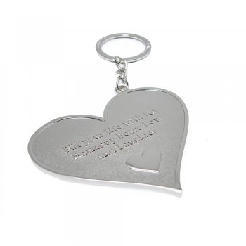 """Love The Links """"Fill Your Life With Joy Harmony Peace Love & Laughter"""" Metal Heart Keyring"""