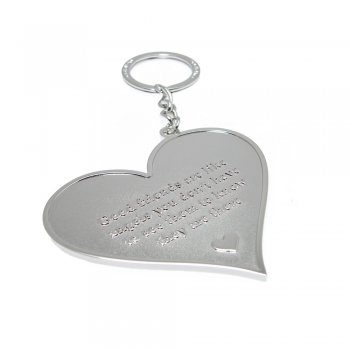 Love The Links Good Friends Are Like Angels You Don't Have To See Them To Know They Are There. Metal Heart Keyring