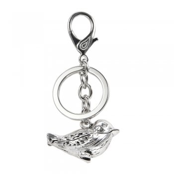Cute Metal Bird Charm Keyring / Bag Charm