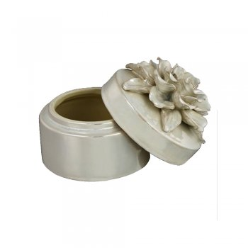 Oyster Pearlescent Flower Trinket Box