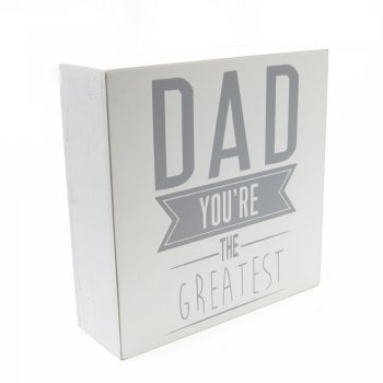 Gisela Graham Dad You're The Greatest White Block Plaque