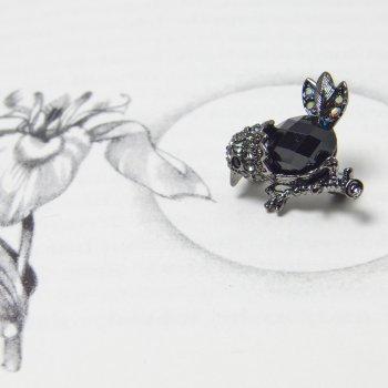 Swarovski Crystal Black Bird Brooch