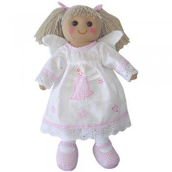 Powell Craft 40cm Angel Rag Doll with Blonde Hair