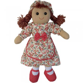 Powell Craft 40cm Rag Doll Wearing a Vintage Floral Print Dress