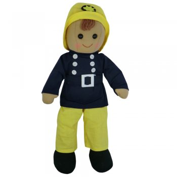 Powell Craft 40cm Fireman Boy Rag Doll
