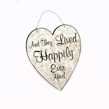 Heaven Sends And They Lived Happily Ever After Hanging Heart