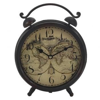 Heaven Sends Vintage Style Shabby Chic Atlas Desk Mantle Clock
