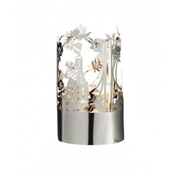 Jette Frolich Design Silver Flower Girl Tealight Holder