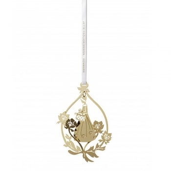 Jette Frolich Design 18ct Gold Plated Flower Girl Mobile Hanging Decoration