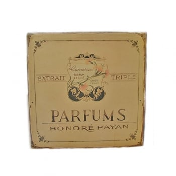 Parfums Honore Payan French Vintage Style Metal Wall Sign