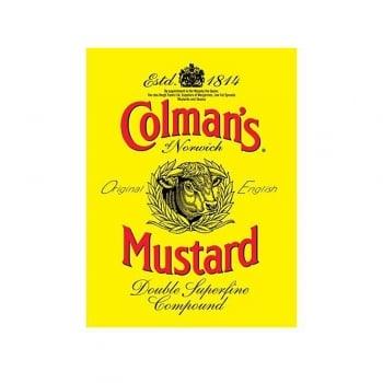Colman's Mustard Est 1814 Label Vintage Style Metal Wall Sign
