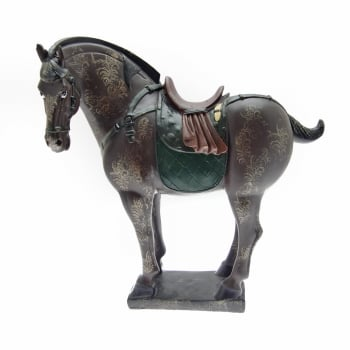 Libra Decorative Handpainted Colourful Tang Horse Ornament