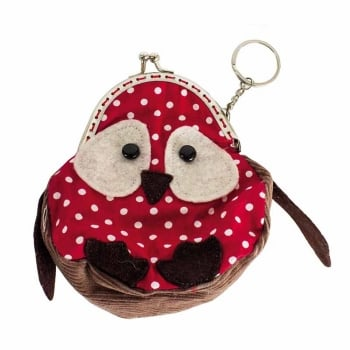Heaven Sends Polka Dot Owl Coin Purse with Keyring