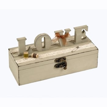 Heaven Sends LOVE Wooden Sewing Box
