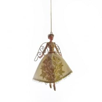 Gisela Graham Cream Fabric Stately Home Fairy Christmas Tree Decoration